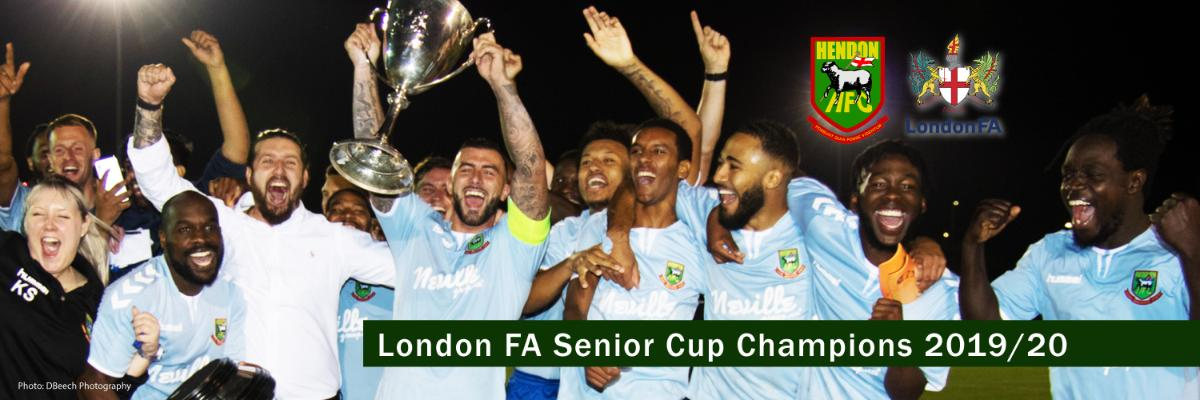 Hendon FC London Senior Cup Champions 2019/20